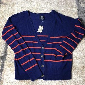 American Eagle striped cardigan sweater size small